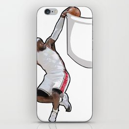 King James dunking in a pocket iPhone Skin