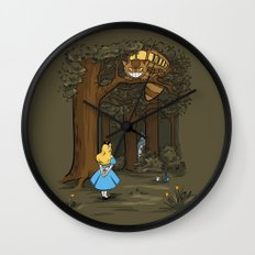 My Neighbor in Wonderland Wall Clock