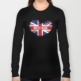 West Ham Gift, West Ham London, West Ham British Flag Long Sleeve T-shirt