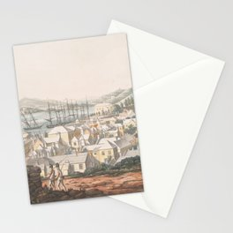 Vintage Pictorial Map of St George (1816) Stationery Cards