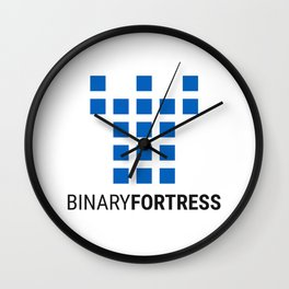 Binary Fortress Software (blue logo) Wall Clock