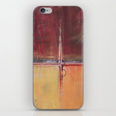 Cargo - Textured Abstract Painting - Red, Gold and Copper Art iPhone Skin