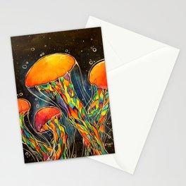 Rainbow Jellies Stationery Cards