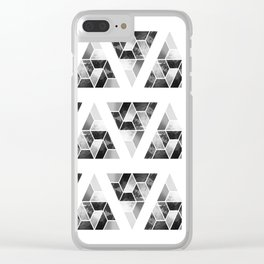 Tessellate Triangle Mountain Clear iPhone Case