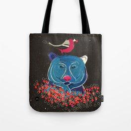 Bullfinch and bear Tote Bag