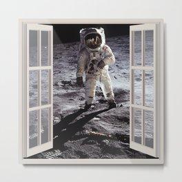 Moon Landing | OPEN WINDOW ART Metal Print