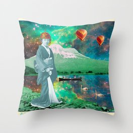 THE QUEEN OF MT. FUJI II Throw Pillow