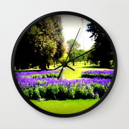 When the World wearies, there is always the Garden! Wall Clock