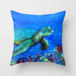 Look at my World (while there is time) Throw Pillow