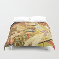carousel Duvet Covers featuring Carousel Horse by WhimsyRomance&Fun