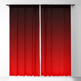 Black Red Neon Nights Ombre Blackout Curtain