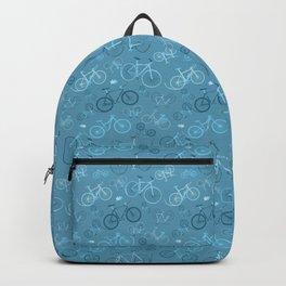 I love bikes in teal Backpack