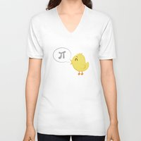 pi V-neck T-shirts featuring Pi ! by Valentina Cariel