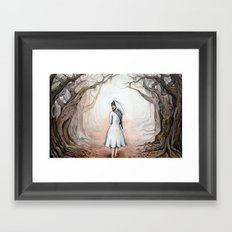 Into the trees Framed Art Print
