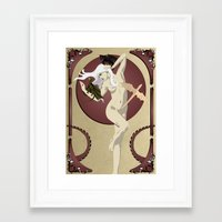 mother of dragons Framed Art Prints featuring Dragons  by Andrew Formosa
