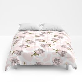 Rose Buds on Hearts Comforters