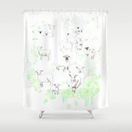 More sheeps Shower Curtain