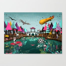 Chinesse Bridge  Canvas Print
