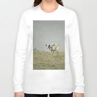 cows Long Sleeve T-shirts featuring Moo Cows by Pure Nature Photos