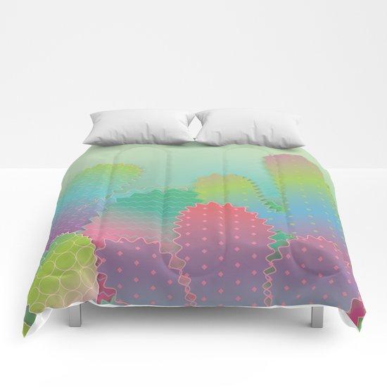 Colorful Cactus Garden Comforters