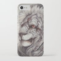 caitlin hackett iPhone & iPod Cases featuring the Nemean Lion by Caitlin Hackett