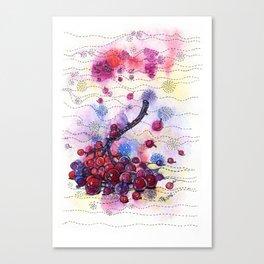 Wnter Berries Canvas Print