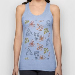Modern Hand Drawn Geometric Pattern Unisex Tank Top