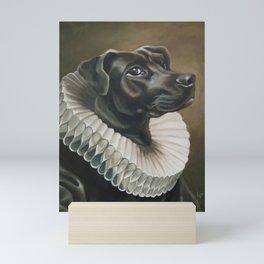 Portrait of a Young Doggo Mini Art Print
