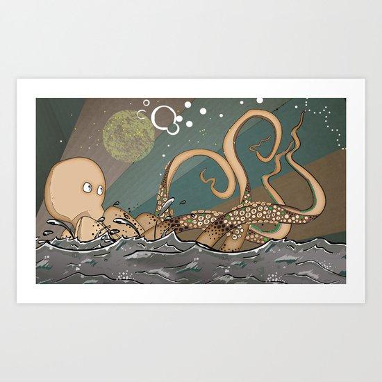 Tireless Octopus Art Print