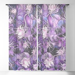 Ghost Lilies Sheer Curtain