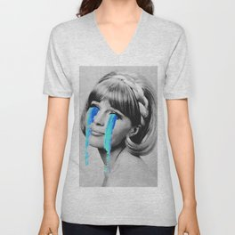 And then she cried Unisex V-Neck