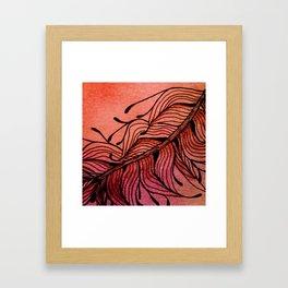 Doodled Autumn Feather 01 Framed Art Print