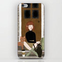 cats & coffee iPhone Skin