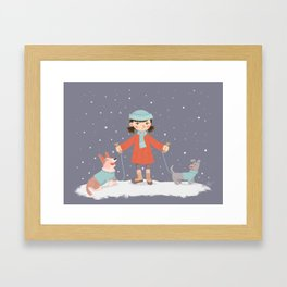 Never Lose Your Dogs Framed Art Print