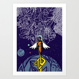 #BlackGirlMagic Art Print