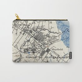 Vintage Map of Palo Alto California (1899) Carry-All Pouch