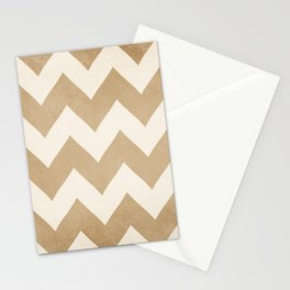 Biscotti & Vanilla - Beige Chevron Stationery Cards