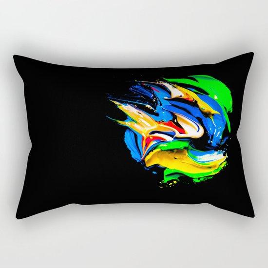 palette of bright colors on black 1 Rectangular Pillow