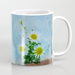 Daisies on rusty metal Coffee Mug