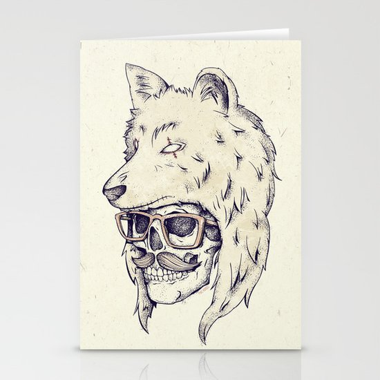 WOLF HAT Stationery Cards