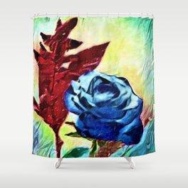 Schönbrunn Palace, Vienna Blue Roses Flower Portrait by Jeanpaul Ferro Shower Curtain