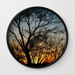 Against The Sun Wall Clock