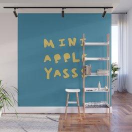 Mini Apple Yasss Wall Mural