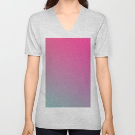 TOXIC FUMES - Minimal Plain Soft Mood Color Blend Prints Unisex V-Neck