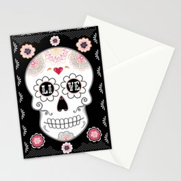 Sugar Skull Papel Picado - Day of the dead Stationery Cards