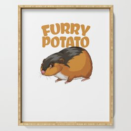 Furry Potato Baby Hamster Rodents Wild Animals Domestic Pet Lovers Gifts Serving Tray