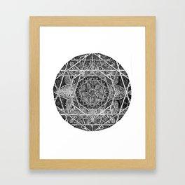 Milkweed Mandala Framed Art Print