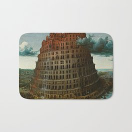 Pieter Bruegel the Elder - The Tower of Babel (Rotterdam) Bath Mat