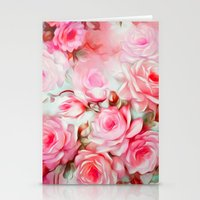 shabby chic Stationery Cards featuring Shabby Chic Pink by Jacqueline Maldonado