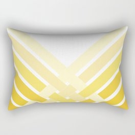 Yellow Ombre Stripes Rectangular Pillow